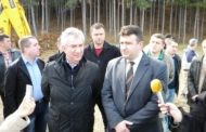 Започнаа градежните работи за уредување на рекреативниот центар Езерце