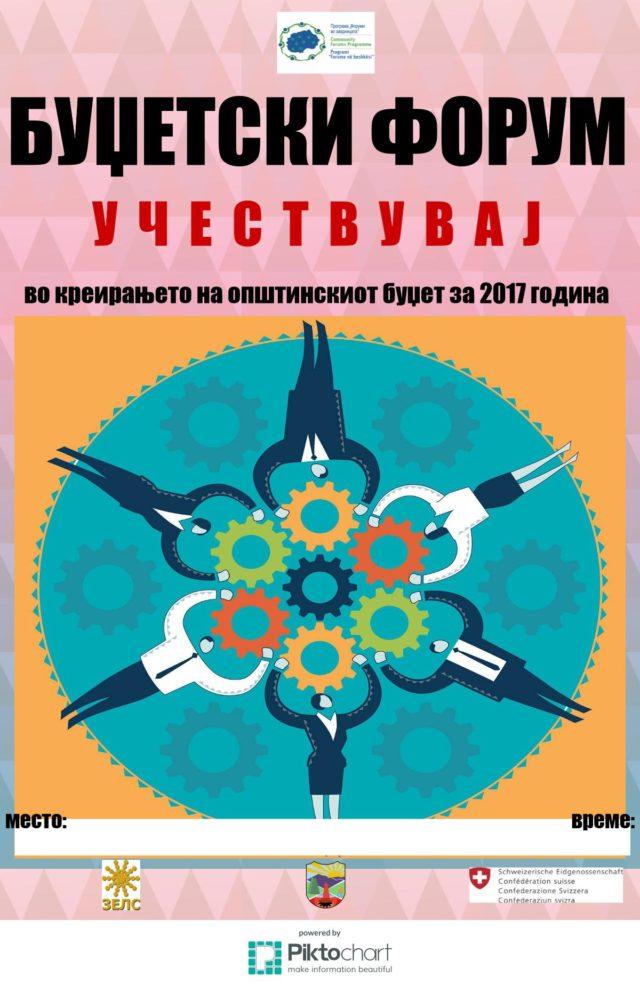 Буџетски форум - Плакат